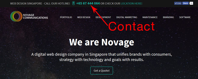 web design contact