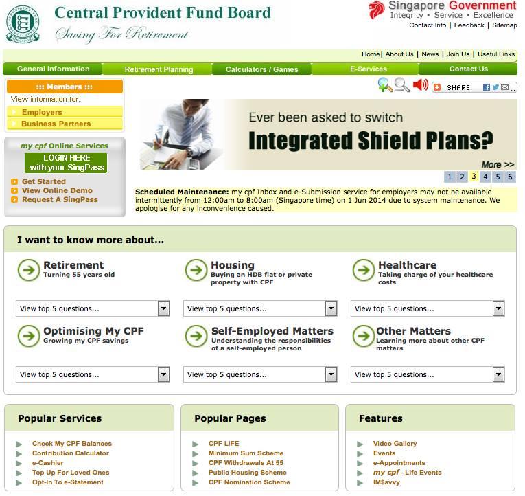 Web Design CPF Singapore 2006