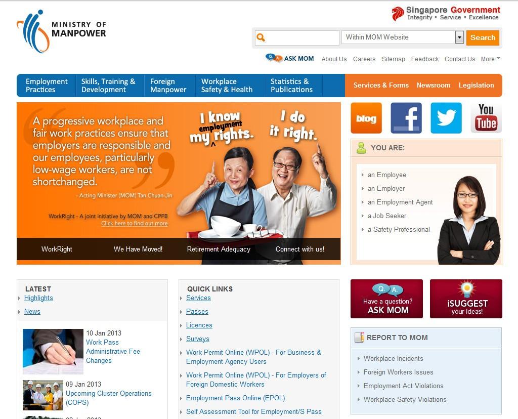 Web Design for Mom Singapore 2013