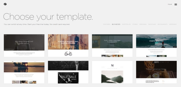 squareSpace web design