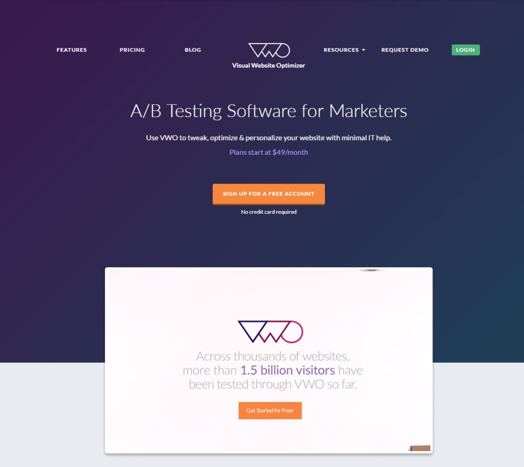 Visual Website Optimizer (VWO)